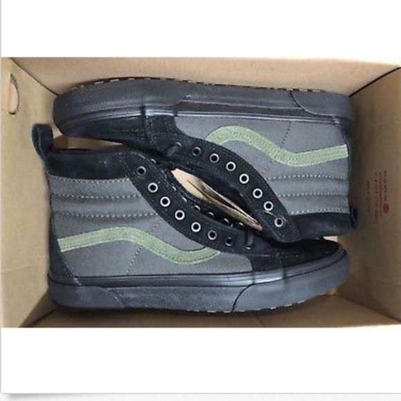 d445bfe545 Vans Sk8-Hi MTE Black Rosin Green Skate Shoes